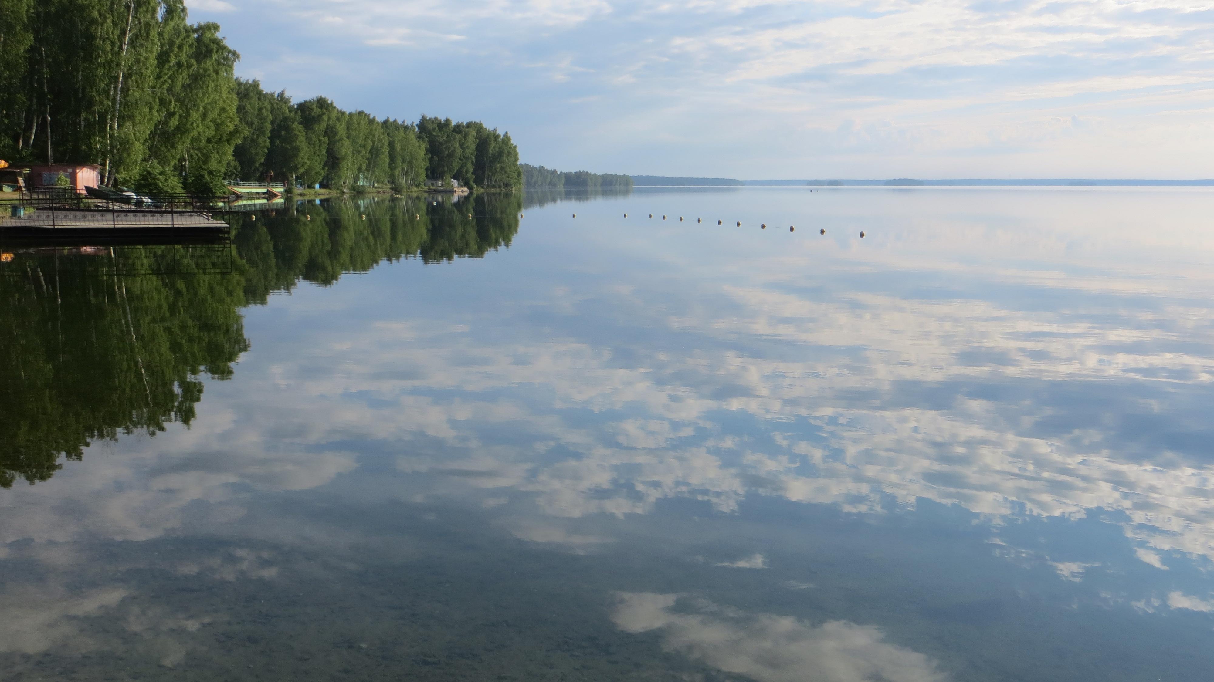Панорама на озеро в направлении северо-востока