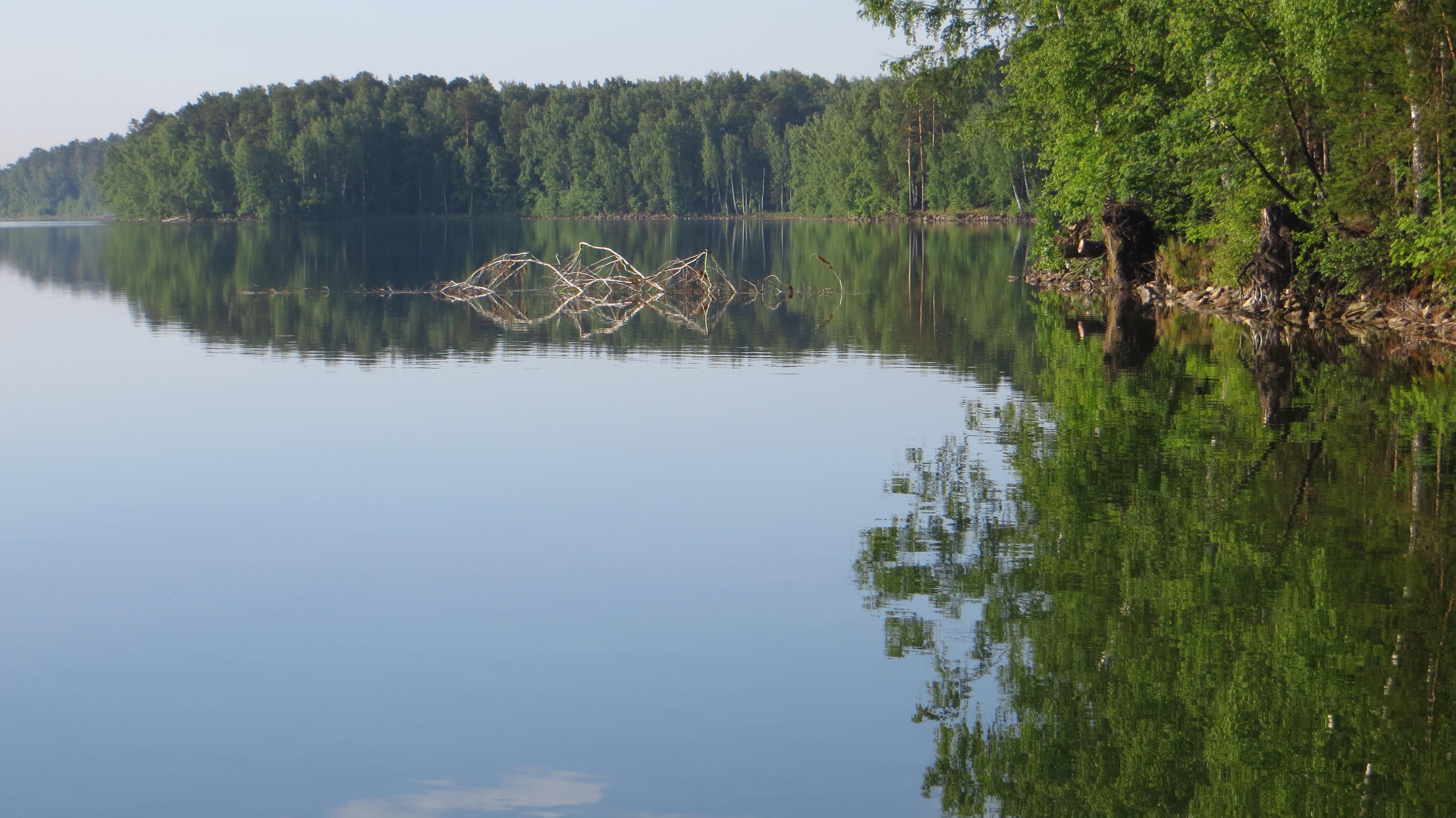 Панорама на озеро в направлении юго-запада